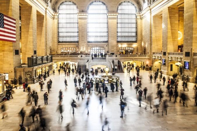 People New York Train Crowd